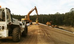 Laying GCL at Barretta Landfill, TAS