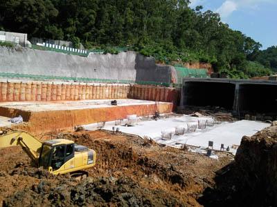 Using Bentotex clay liner to waterproof a road tunnel, Voltex, Elcoseal, Bentofix, Swellseal, Bentoseal