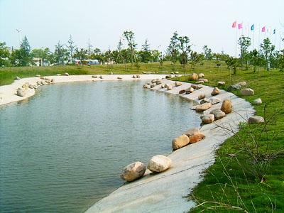 Voltex, Bentofix, Elcoseal, Bentoseal, bentonite clay liner for ornamental ponds