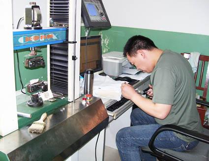 Tensile testing nonwoven geofabric, Bidim