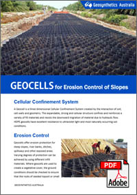 Ecoloy, Perforated Geocells, Erosion Control