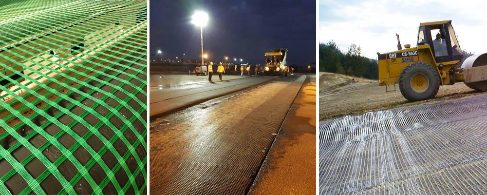 Soil reinforcement and asphalt paving, grid