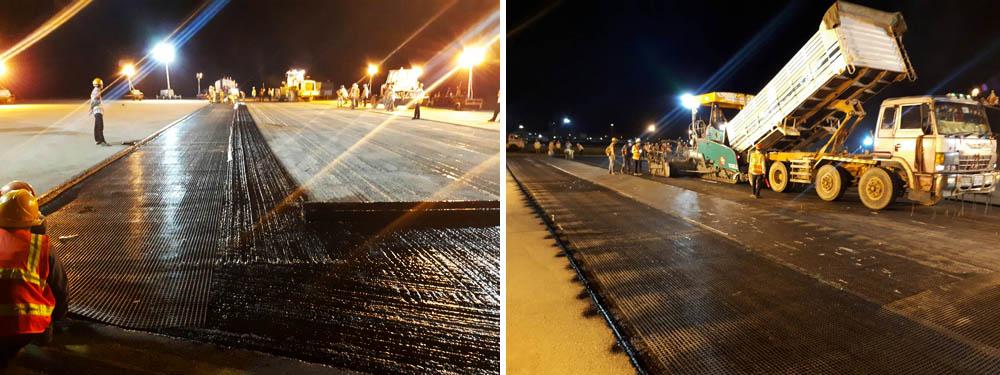 pavement reinforcement, GlasGrid, Progrid, Rotagrid, Geocorp, Saint Gobain